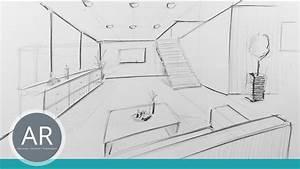 Perspektive Zeichnen Raum : raum in zentral perspektive innenarchitektur zeichnungen mappenkurs innenarchitektur youtube ~ Orissabook.com Haus und Dekorationen