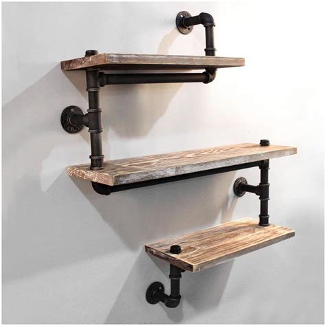 small island for kitchen industrial pipe wall shelf