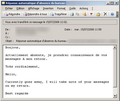 exemple message absence bureau exemple message répondeur humour