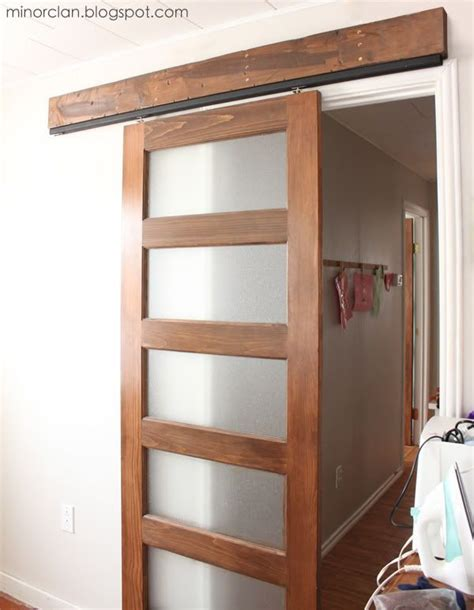 diy hanging sliding interior door without using barn