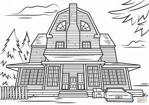 Scary Haunted House coloring page | Free Printable ...