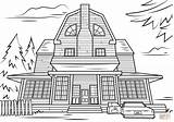 Haunted Coloring Scary Halloween Printable Mansion Adult Colouring Drawing Monster Houses Amityville Spooky Template Categories Crafts Sketch sketch template