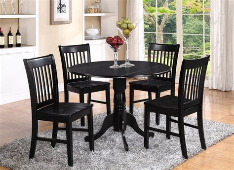 round kitchen table with 4 chairs dlno5 blk w 5 pieces small kitchen table set round kitchen