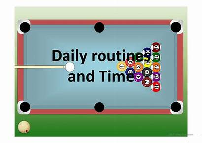 Daily Routines Pool Simple English Activities Screen