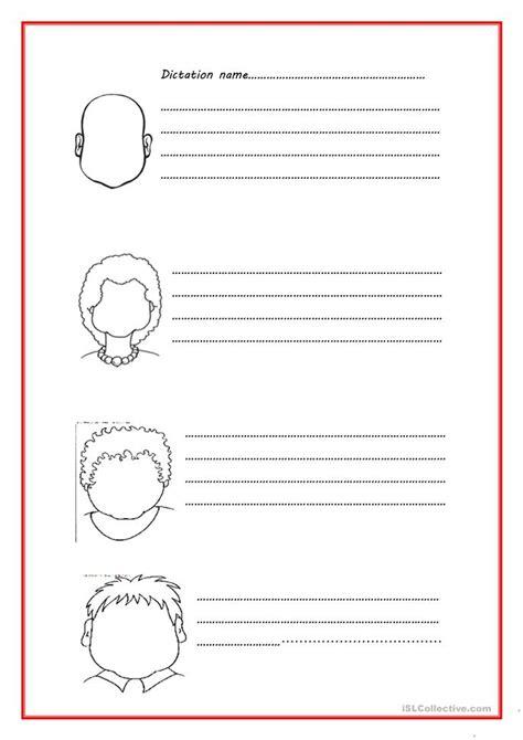 body dictation worksheet  esl printable worksheets