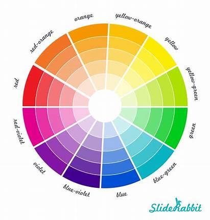 Colors Palette Slide Primer Wheel Presentation Powerful