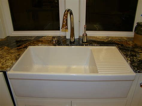 farmhouse sink with drainboard married with bikes home addition appliances