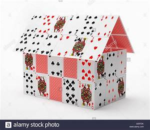 House made of playing cards Stock Photo, Royalty Free ...