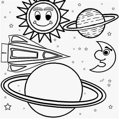 Solar Coloring System Pages Space Outer Planets