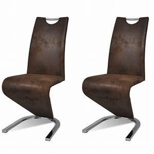 Acheter Chaise En Simili Cuir Cantilever Avec Pieds En