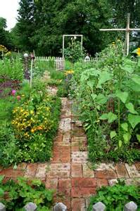 Brick Garden Path with Kitchen