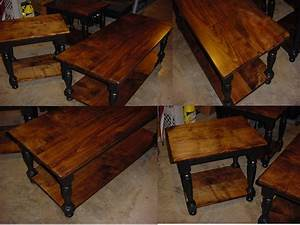 Custom maple top coffee table with matching end side for Matching coffee table and side table