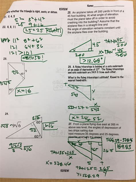 Some of the worksheets displayed are unit 8 right triangles name per, right triangle trig missing sides and angles, 9 solving right triangles, geometry practice test, chapter 8, unit 4 right triangle trigonometry, an overview of important topics, lesson right triangle trigonometry. Unit 8 Right Triangles And Trigonometry Quiz 8-2 Trigonometry Answer Key + mvphip Answer Key