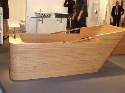 wooden sinks and bathtubs inspiring wooden bathroom collection milan 2010