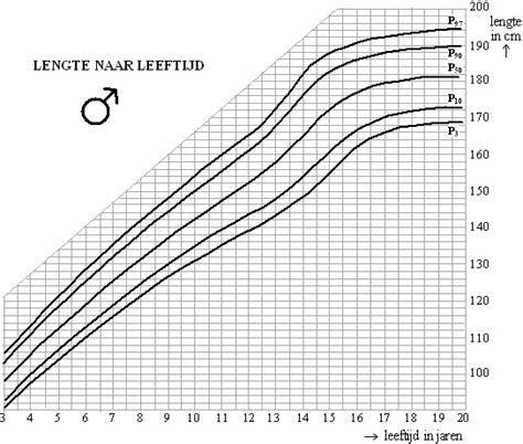 Gemiddelde lengte kind grafiek