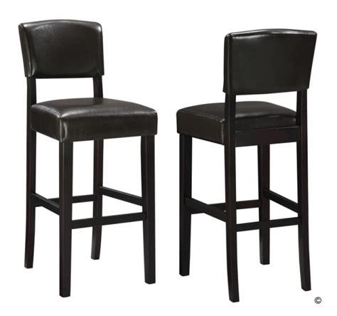 4 pieds 4 chaises rouen 2 tabourets tucson noir pvc haute qualite tabouret de bar topkoo