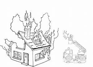 13 dessins de coloriage Pompier Feu à imprimer