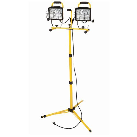 halogen l with stand shop utilitech 1000 watt halogen stand work light at lowes com