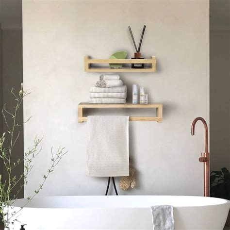 home kitchen burlywood yme ym natural wood floating shelf wall mounted set   solid wood
