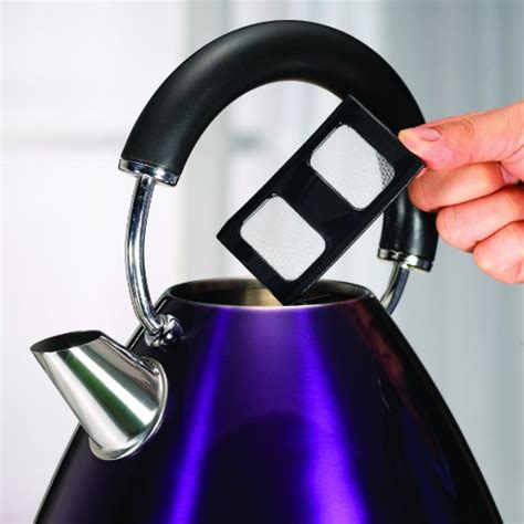 morphy richards plum kitchen accessories morphy richards accents 43769 pyramid kettle plum purple 9290