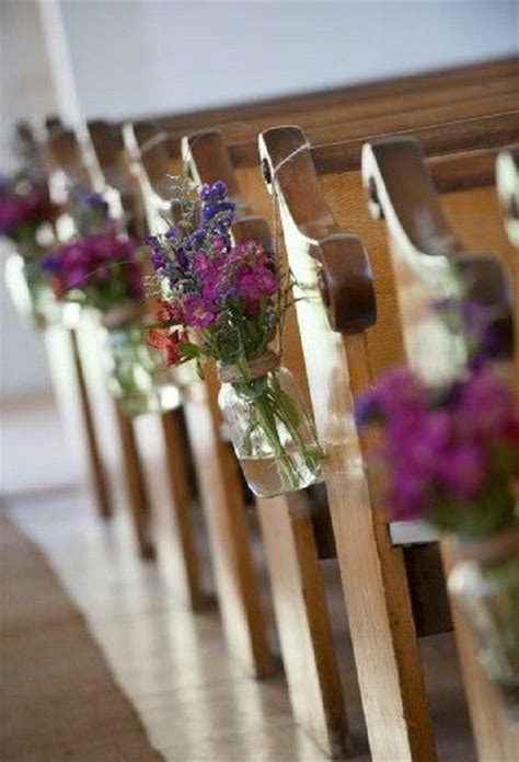 21 stunning church wedding aisle decoration ideas to