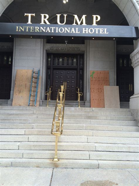 graffiti hotel trump dc matter lives vandalized police washington international wtop trumps