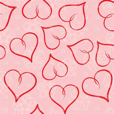 valentines day seamless background vector stock image