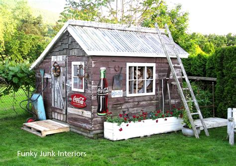 Garden Shed Decorating Ideas decorating the great outdoors with junk for gitter done