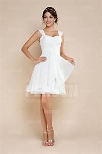Robe Pour Invité Mariage : robe pour invit mariage blanche courte en mousseline ~ Melissatoandfro.com Idées de Décoration