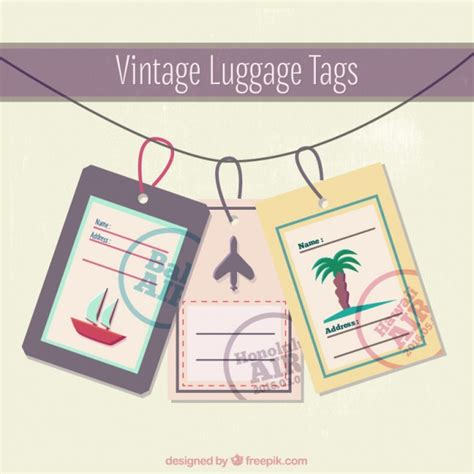 Visual Shizzle Vintage Luggage Tags Vintage Luggage Tag Template Www Pixshark Images