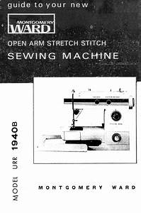 Montgomery Wards Signature Sewing Machine Instruction