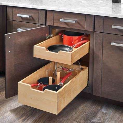 drawer kits for kitchen cabinets rev a shelf pilaster two drawer kit for 24 quot door drawer 8826