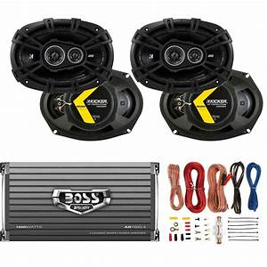 Kicker 6x9 U0026quot  360w Car Speakers  4 Pack    Boss 1600w