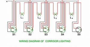 Wiring And Schematic Diagram Of Corridor Lighting