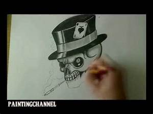 Gothic Skull Designs How To Draw A Skull Design Youtube