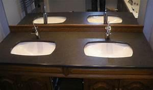 Plan De Travail Salle De Bain : salle de bain plan de travail de salle de bain classique ~ Dailycaller-alerts.com Idées de Décoration