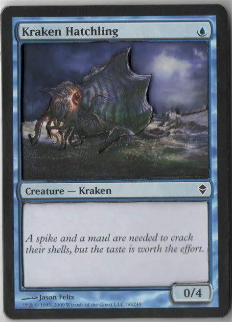 mtg kraken hatchling deck official 3d magic cards counters thread artwork