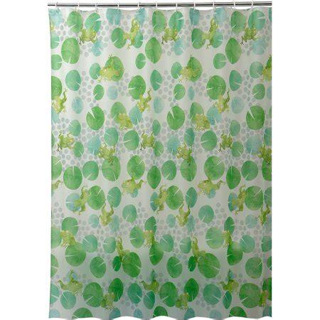 frog shower curtain frog dots peva shower curtain walmart