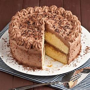 Tender Yellow Cake with Chocolate Whipped Cream Frosting ...