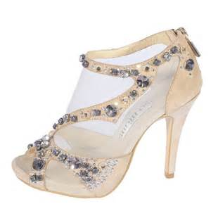 jeweled wedding shoes mid heel peep toes rhinestone zipper chagne wedding shoes flowerweddingshoes