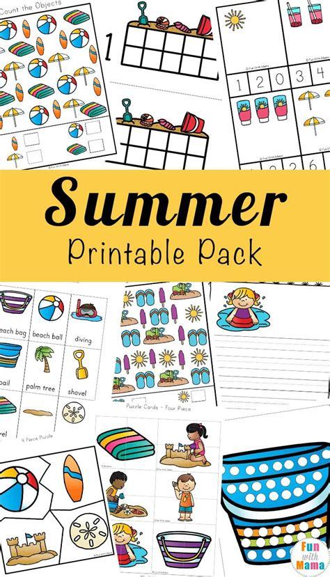 Printable Summer Kids Activities Free activities for
