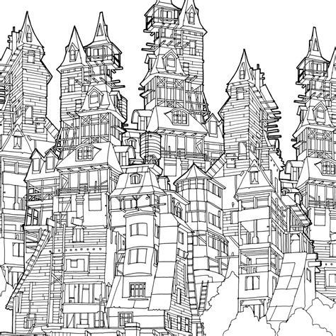 Moderne Häuser Zum Ausmalen by Fantastic Cities Steve Mcdonald Search Coloring