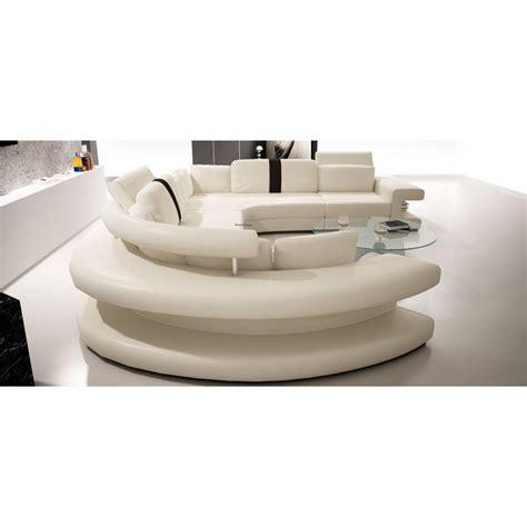 canapé demi rond canapé panoramique en cuir vancouver pop design fr