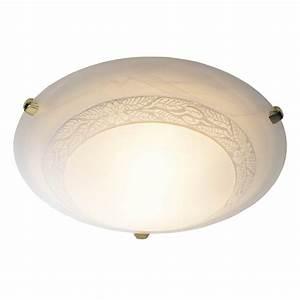 Large damask energy saving flush ceiling light for low