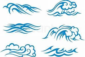 Surf waves | Stock Vector | Colourbox
