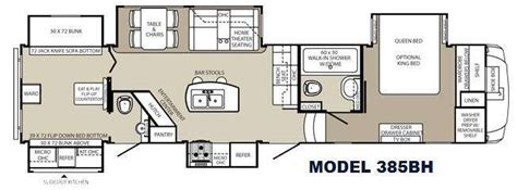 Montana 5th Wheel Bunkhouse Floor Plans by New 2015 Palomino Columbus F385bh Fifth Wheel At Cers