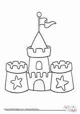Colouring Sand Sandcastle Castle Coloring Pages Print Hogwarts Seaside Printable Drawing Activityvillage Beach Colour Tsgos Simple Sheets Summer Preschool Activity sketch template