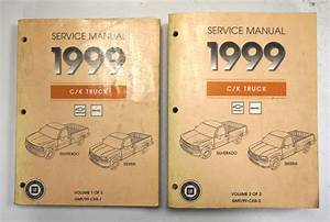 1999 Gm C  K Truck Service Manuals Vol  1  U0026 2 Of 3 Used Gmt