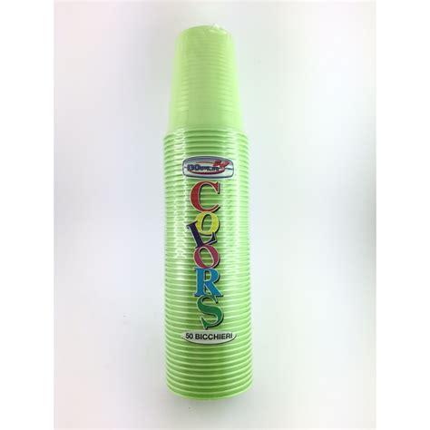 bicchieri usa e getta bicchieri usa e getta dopla pz 50 verde acido