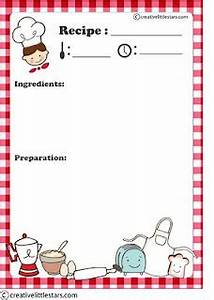free printable recipe card pinteres With kids cookbook template